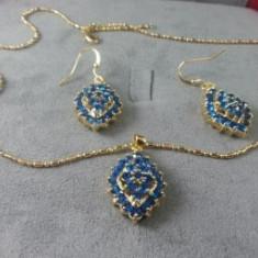 Set bijuterii Luxury Blue Sapphire