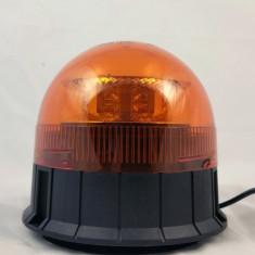 Girofar 8x LED Galben (amber) cu prindere magnetica si ventu