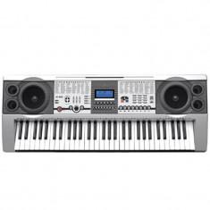 Orga midi cu suport, 61 clape, buton Piano, ecran LCD, 30 melodii demo, port USB