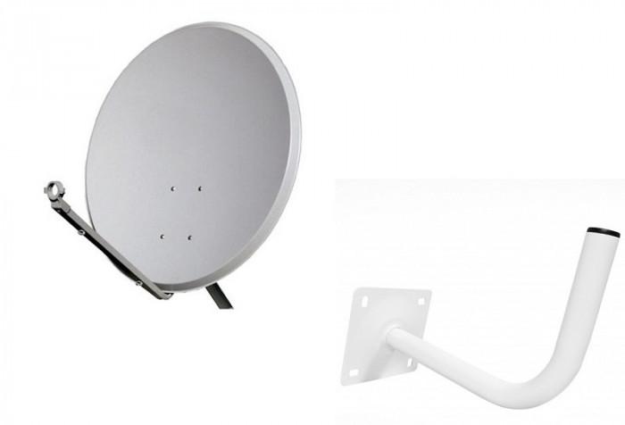 Antena satelit 80 cm cu lnb o iesire