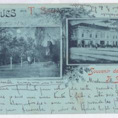 463 - TURNU SEVERIN, Litho, Romania - old postcard - used - 1899, Circulata, Printata