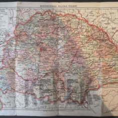 Harta Ungariei mari   1939 - 42x28 cm   Kepek-1005