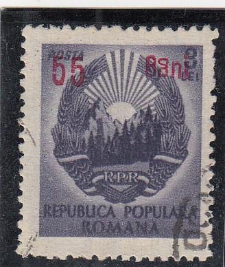 1952 LP 317 a STEMA R.P.R.SUPRATIPAR EROARE 55BANI/3LEI a DIN BANI IN OGLINDA