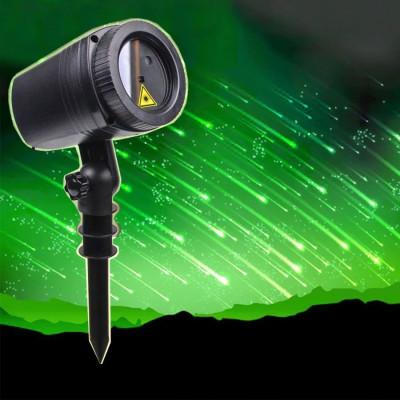 Proiector laser efect ploaie de meteoriti, joc de lumini verzi, IP44, suport foto