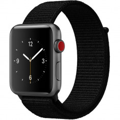 Curea pentru Apple Watch 40mm iUni Woven Strap, Nylon Sport, Black