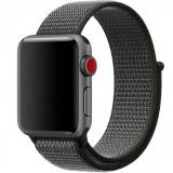 Curea pentru Apple Watch 40 mm iUni Woven Strap, Nylon Sport, Midnight Gray