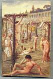 AD 258 C. P. VECHE -QUO VADIS ?- THE MARTYDOM OF THE CHRISTIANS IN THE -PATATA, Franta, Circulata, Printata