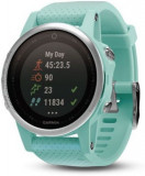 Ceas activity outdoor tracker Garmin Fenix 5S Sapphire Edition, GPS, HR (Albastru)