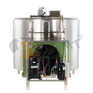 Tanc din inox pentru racire lapte 500L x 1.8 kw monofazic EMT.CTS500-1