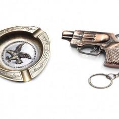 Set cadou Scrumiera cu bricheta model Pistol Autentic HomeTV