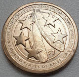 1 Dollar 2021 USA, Sacagawea Native, unc, Native Americans in US Millitary, P/D, America de Nord