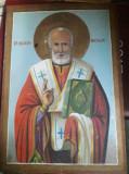 ICOANA VECHE pictata pe lemn,C.Dumitrescu 1940,de colectie,stare conf.Foto,T.GRA