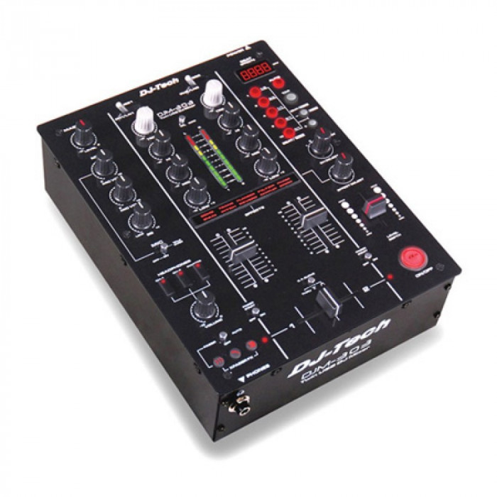 Mixer DJ Ibiza, 2 canale dual USB, EQ pe 3 benzi, iesire casti