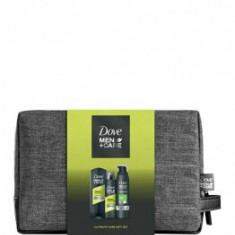 Set cadou Dove Men+Care Sport Active+Fresh (Gel de dus, 250 ml + Spuma de dus, 200 ml + Deospray, 150 ml + Geanta de cosmetice )