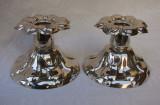 Set de doua sfesnice din alama argintata, perioada anilor 1930