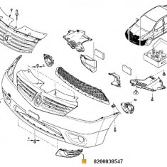Grila Proiector Stanga Logan Renault 8200838547