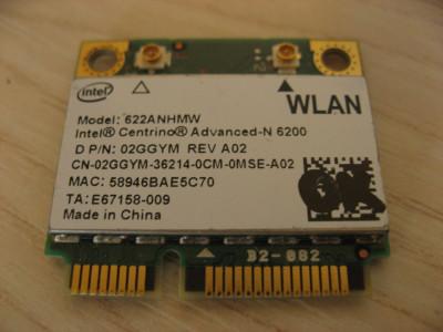 Placa wireless laptop Dell Latitude E5410, Intel Advanced-N 6200, 622ANHMW foto