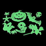 Sticker fosforescent Glow Monster, 8 figurine, ABS