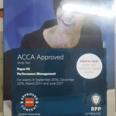 Performance Management, Study text, ACCA Approved, Paper F5, 2016