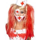 Set Asistenta Horror Halloween, Alb/Rosu