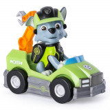 Mini vehicul de salvare Paw Patrol Mission Paw cu figurina Rocky