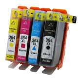 Set 4 cartuse HP 364XL compatibile, Multicolor