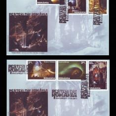 2011 Romania, 2 FDC Pesteri din Romania LP 1889, Speologie plicuri prima zi