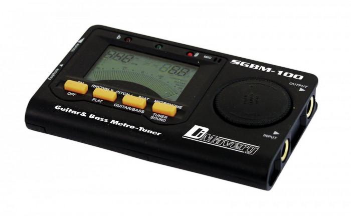 Acordor digital cu metronom pentru chitara si chitara bas electrica, Dimavery SGBM-100