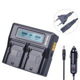 Incarcator dual FAST Charge pentru acumulatori NP-F550 NP-F750 NP-F960 NP-F970