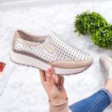 Pantofi sport Piele dama auriu Nirvali-rl-20