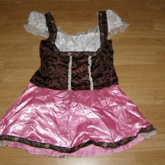 Costum carnaval serbare rochie tirolez bavareza pentru adulti marime S-M, S/M, Din imagine