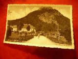 Ilustrata Deva - Parcul si Cetatea circulat 1943 , 2 pete