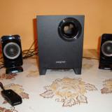 Sistem audio boxe Creative T3130 2.1 telecomanda cu fir