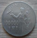 Moneda argint 100000 lei 1946
