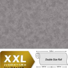 Tapet gri model unicolor cu finisaj luminat si suprafata in relief 9031-17