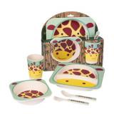Set de masa din bambus - Girafa (5 piese) PlayLearn Toys, Keycraft