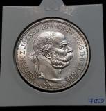 Moneda argint 5 Korona 1900 Coroane / corona Franz Josef Ungaria, Europa