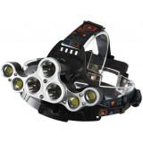 Lanterna Frontala Mobila cu 7 Led ,4 Acumulatori Inclusi, Premium, Protectie Ipx45 ,