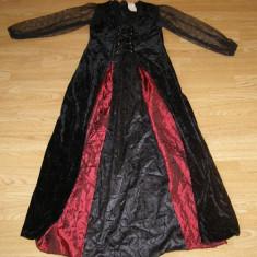 costum carnaval serbare rochie medievala contesa pentru copii de 10-11 ani