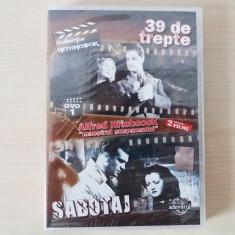 DVD Alfred Hitchcok,2 filme de colectie de la maestrul suspansului,nou!, Romana