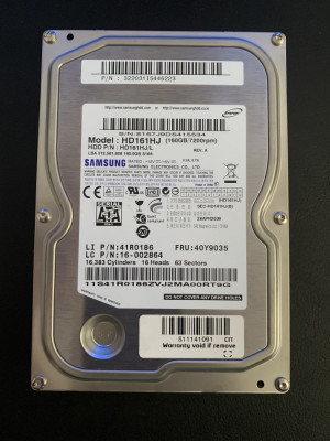 HDD Hard Disk 160GB SAMSUNG HD161HJ, SATA2, 7200 rot/min, Cache 8MB foto