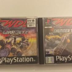 LOT 2 Jocuri -  WDL War Jetz + Thunder Tanks  - PS 1 [Second hand], Simulatoare