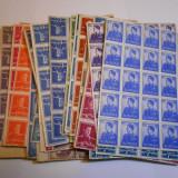 Regele Mihai, uzuale, 30 valori, bloc de 99 bucati, Nestampilat