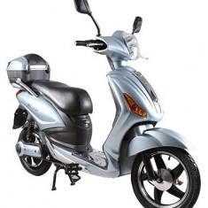 Bicicleta electrica, tip scuter, fara carnet si inmatriculare ZT-09-AL LI-ION ARGINTIU