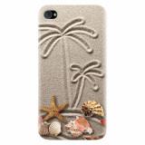 Husa silicon pentru Apple Iphone 4 / 4S, Beach Sand