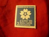 Serie Chile 1969 - Expozitia Osaka'70 ,  1 val. 3 esc, Nestampilat
