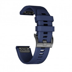 Curea silicon Tech-Protect Smooth Garmin Fenix 3/5X/3HR/5X Plus/6X/6X Pro Navy Blue