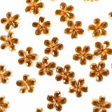 Strasuri Unghii Pietricele Flori Culoare Auriu, Pietre Decorative Manichiura