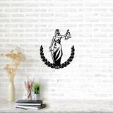Decoratiune pentru perete, Ocean, metal 100 procente, 49 x 57 cm, 874OCN1056, Negru