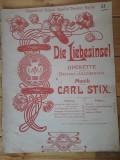 Partitură veche germana